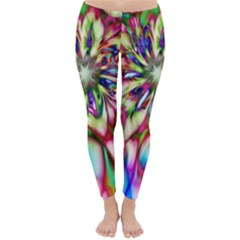 Magic Fractal Flower Multicolored Classic Winter Leggings