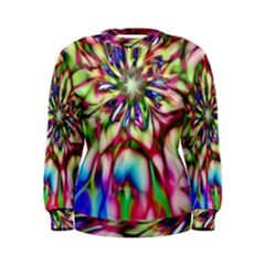 Magic Fractal Flower Multicolored Women s Sweatshirt