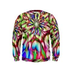 Magic Fractal Flower Multicolored Kids  Sweatshirt