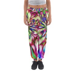 Magic Fractal Flower Multicolored Women s Jogger Sweatpants