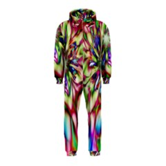 Magic Fractal Flower Multicolored Hooded Jumpsuit (Kids)