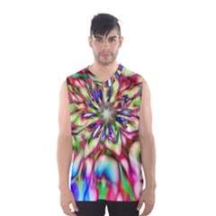 Magic Fractal Flower Multicolored Men s Basketball Tank Top