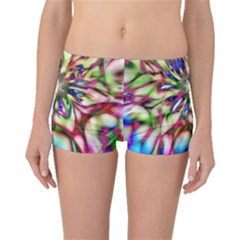 Magic Fractal Flower Multicolored Boyleg Bikini Bottoms