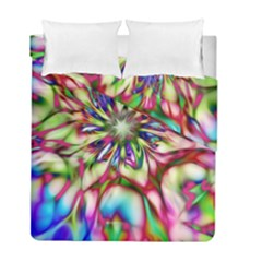Magic Fractal Flower Multicolored Duvet Cover Double Side (Full/ Double Size)