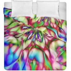 Magic Fractal Flower Multicolored Duvet Cover Double Side (King Size)