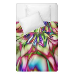Magic Fractal Flower Multicolored Duvet Cover Double Side (Single Size)