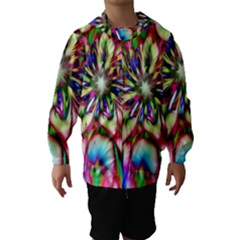 Magic Fractal Flower Multicolored Hooded Wind Breaker (Kids)