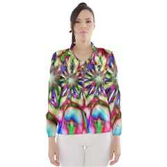 Magic Fractal Flower Multicolored Wind Breaker (Women)
