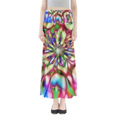 Magic Fractal Flower Multicolored Maxi Skirts