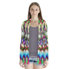 Magic Fractal Flower Multicolored Cardigans