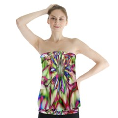 Magic Fractal Flower Multicolored Strapless Top