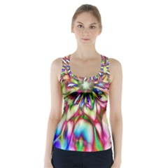 Magic Fractal Flower Multicolored Racer Back Sports Top