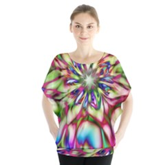 Magic Fractal Flower Multicolored Blouse