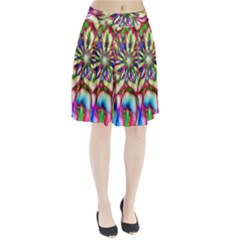 Magic Fractal Flower Multicolored Pleated Skirt
