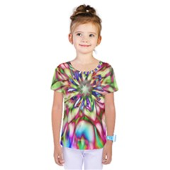 Magic Fractal Flower Multicolored Kids  One Piece Tee