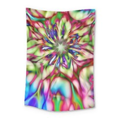 Magic Fractal Flower Multicolored Small Tapestry