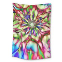 Magic Fractal Flower Multicolored Large Tapestry