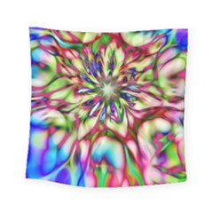 Magic Fractal Flower Multicolored Square Tapestry (small)
