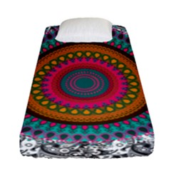 Tropical Mandala Fitted Sheet (single Size)