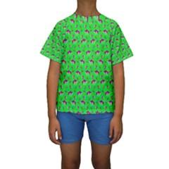 Floral pattern Kids  Short Sleeve Swimwear