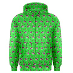 Floral pattern Men s Zipper Hoodie