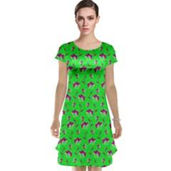 Floral pattern Cap Sleeve Nightdress