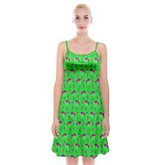 Floral pattern Spaghetti Strap Velvet Dress