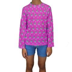 Floral pattern Kids  Long Sleeve Swimwear