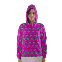 Floral pattern Hooded Wind Breaker (Women)