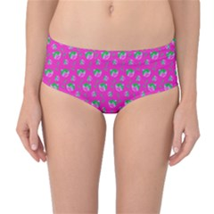 Floral pattern Mid-Waist Bikini Bottoms