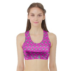 Floral pattern Sports Bra with Border