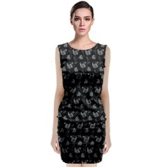 Floral pattern Sleeveless Velvet Midi Dress