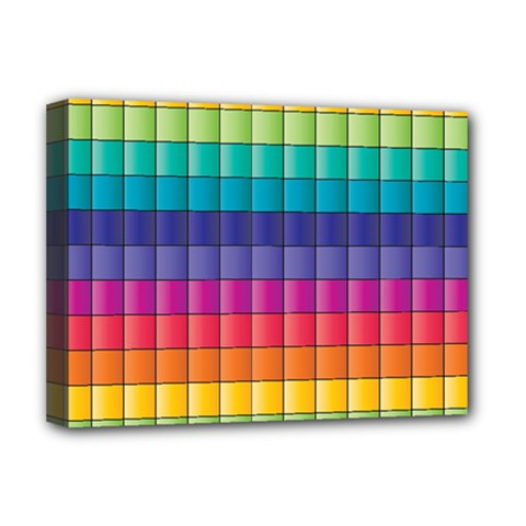 Pattern Grid Squares Texture Deluxe Canvas 16  X 12