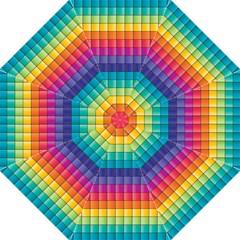 Pattern Grid Squares Texture Hook Handle Umbrellas (large)