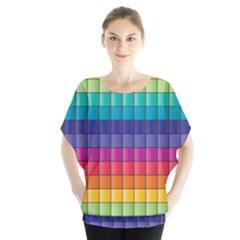 Pattern Grid Squares Texture Blouse
