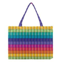 Pattern Grid Squares Texture Medium Tote Bag