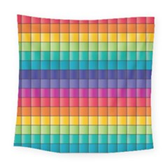 Pattern Grid Squares Texture Square Tapestry (large)