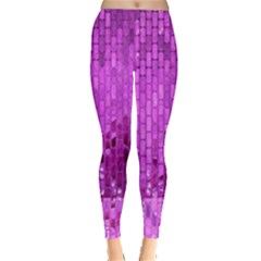 Purple Background Scrapbooking Paper Leggings