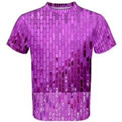 Purple Background Scrapbooking Paper Men s Cotton Tee