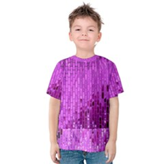 Purple Background Scrapbooking Paper Kids  Cotton Tee