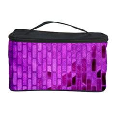 Purple Background Scrapbooking Paper Cosmetic Storage Case