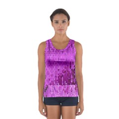 Purple Background Scrapbooking Paper Women s Sport Tank Top