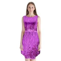 Purple Background Scrapbooking Paper Sleeveless Chiffon Dress