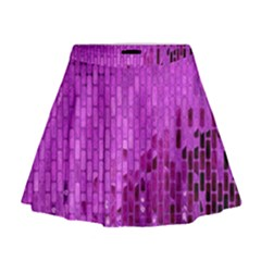 Purple Background Scrapbooking Paper Mini Flare Skirt
