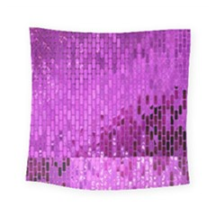 Purple Background Scrapbooking Paper Square Tapestry (small)