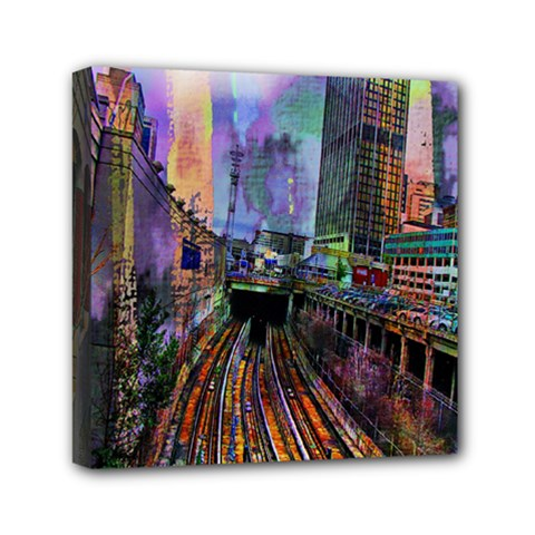 Downtown Chicago Mini Canvas 6  X 6