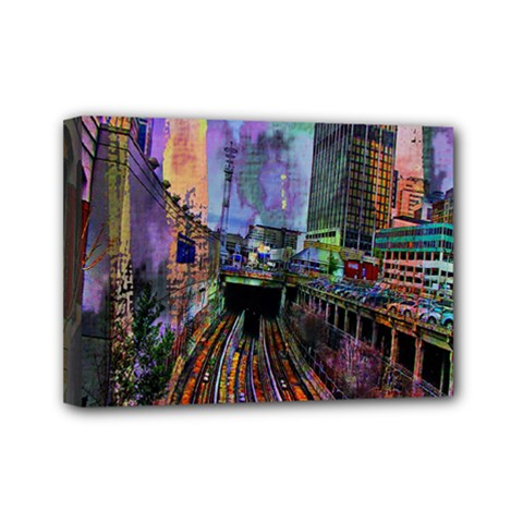 Downtown Chicago Mini Canvas 7  X 5