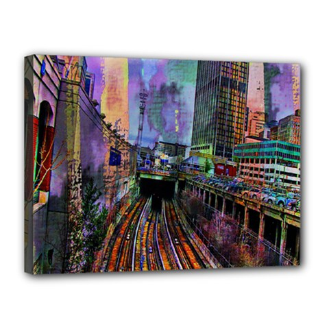 Downtown Chicago Canvas 16  x 12