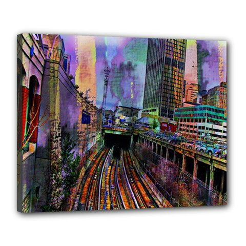 Downtown Chicago Canvas 20  x 16