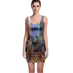 Downtown Chicago Sleeveless Bodycon Dress